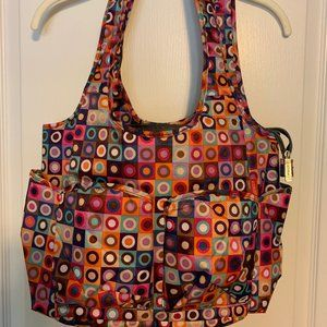 Nylon Hand Bag with a lot of pockets